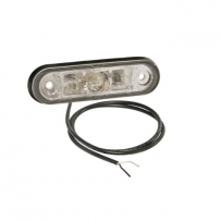 Ліхтар габаритний білий Aspock з кабелем, для рефрижераторів