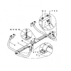 Держатель для двух запасных колёс (корзина)