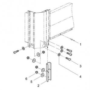 Комплект кріплення для передньої стінки