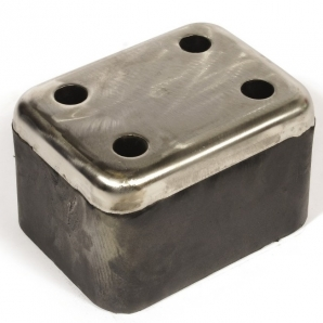Відбійник гумовий зі сталевою пластиною